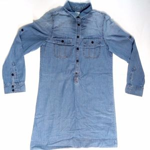 J.Crew Workwear Shirtdress chambray Jean Dress 6